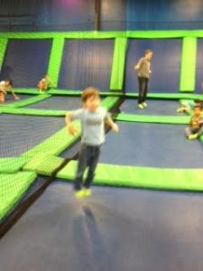 josh jumping on trampoline